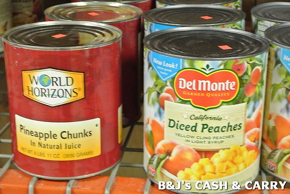 Del Monte Peaches/World Horizon Pineapple #10 Can