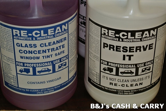 RE-CLEAN Glass Cleaner & Vinyl Preserve-It