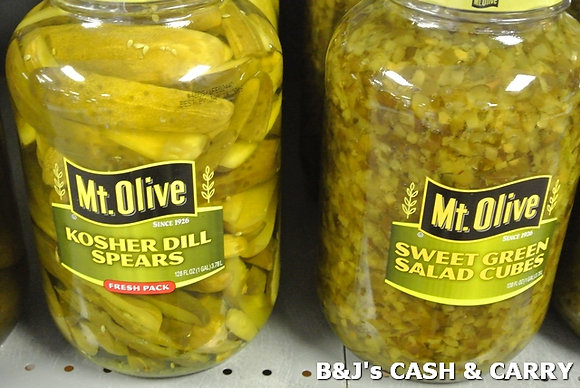 Mount Olive Dill Pickle Spears & Sweet Cubes 1 Gal