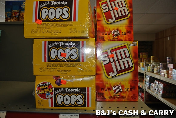 Tootsie Pops & Slim Jims