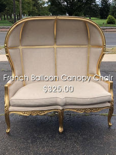 French Balloon Canopy Chair $325.00