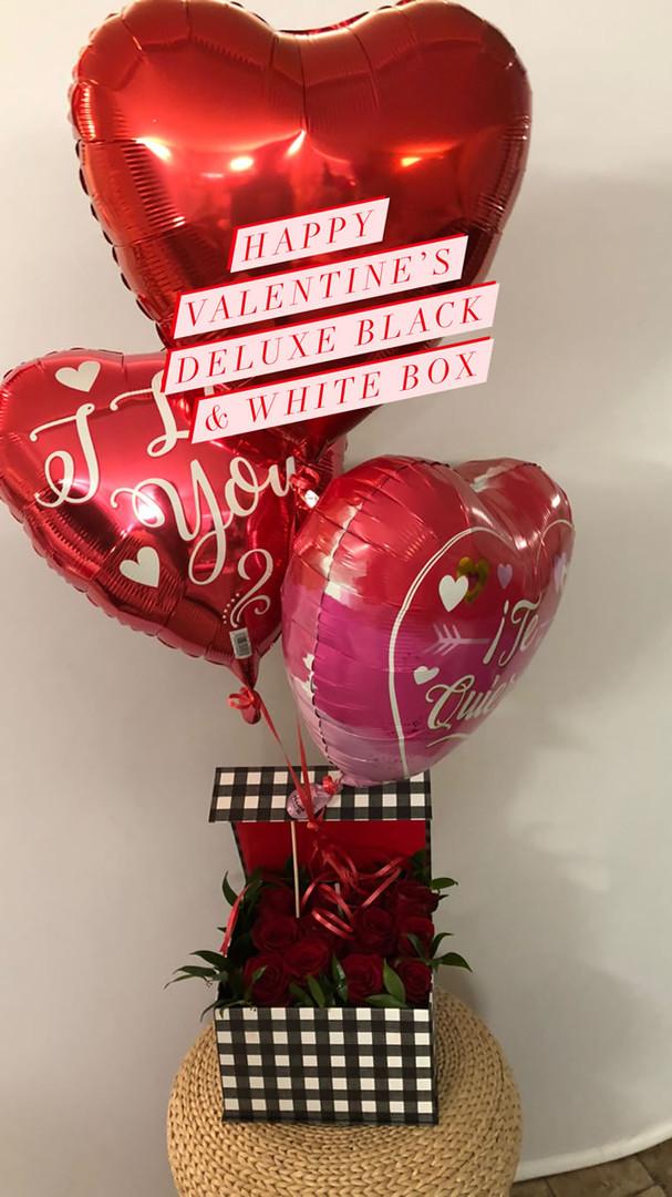 Happy Valentines Day deluxe Black & White Box