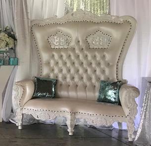 All White Vintage Loveseat $300.00