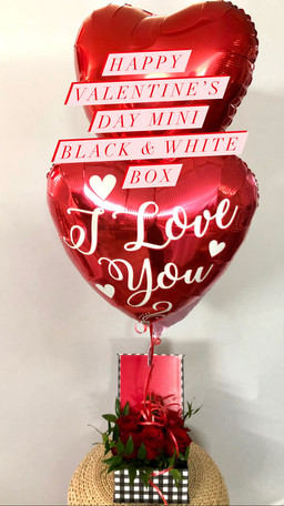 Happy Valentines Day mini Black & White Box