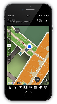 Indoor positioning interface on mobile phone