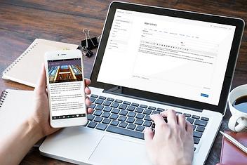 User managing content via WAI2Go ACM app and web interface