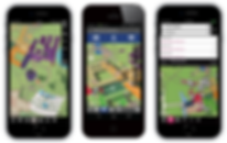 Routing via campus map on mobile phone
