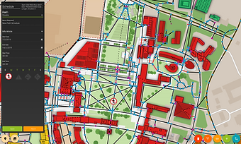 The WAi2Go Studio interface: our indoor mapping editor