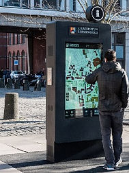 Interactive mapping via kiosk at University of Birmingham