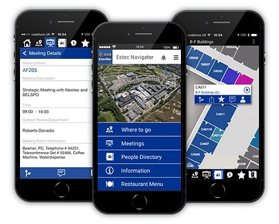 ESTEC Navigator indoor mapping app, staff interface