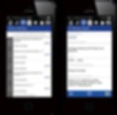 Meeting bookings displayed on mobile app