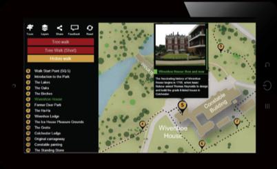 Campus tours displayed via website browser