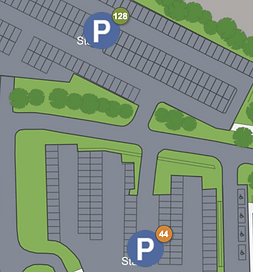 Parking space management via Wai2Go app