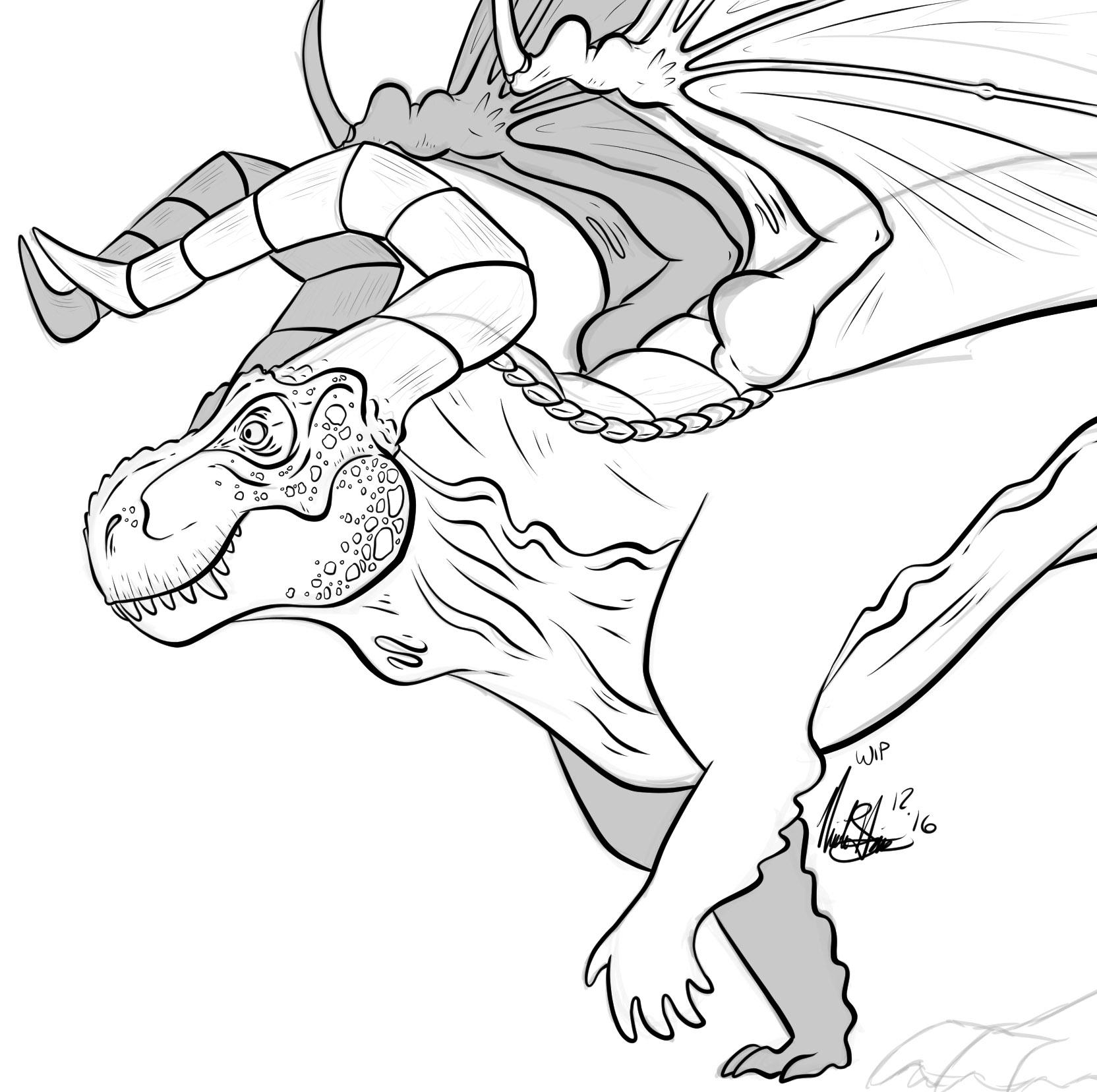 T-Rex Dragon Noodle Doodle