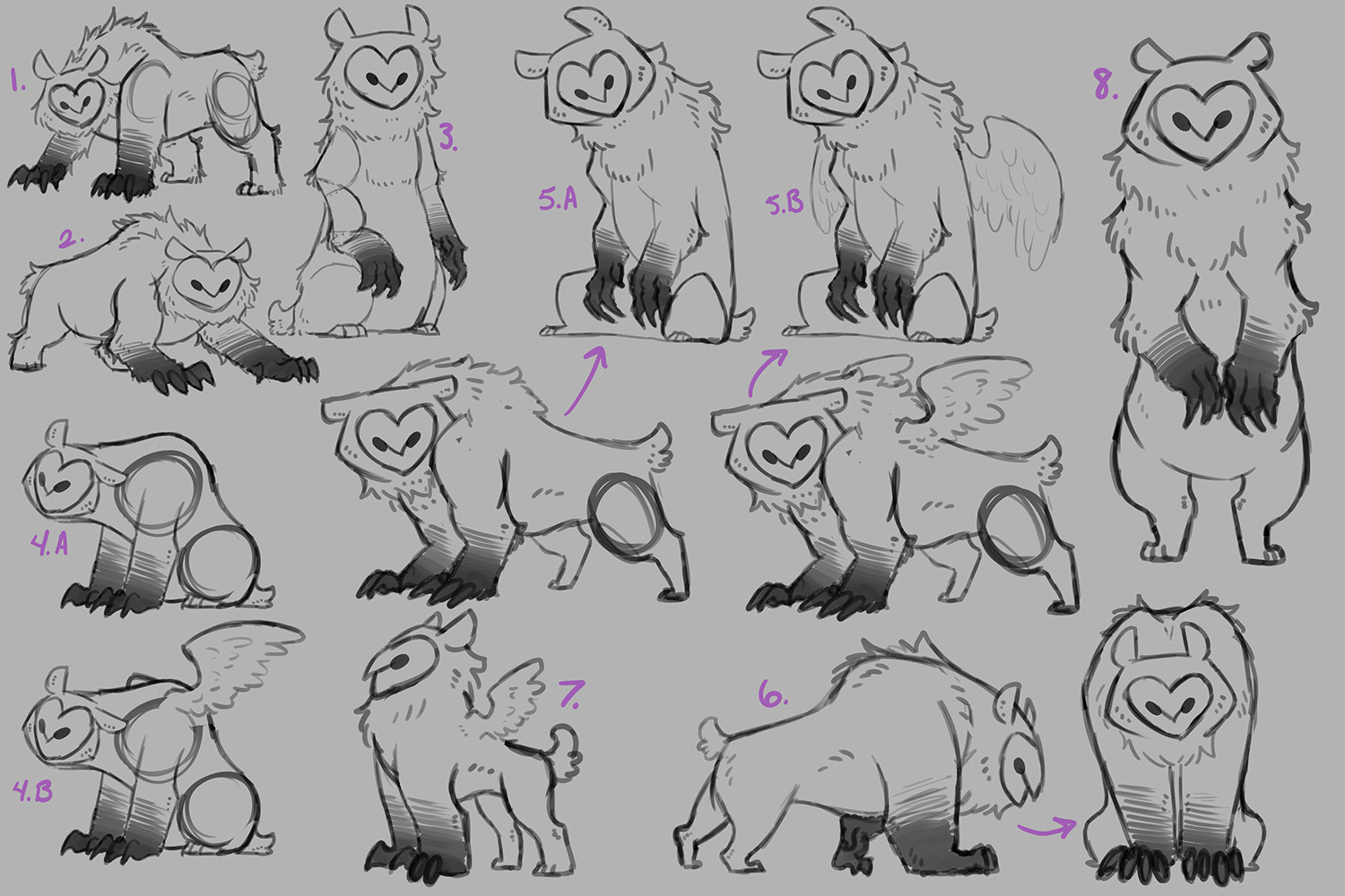 Owl Bear Design Exploration