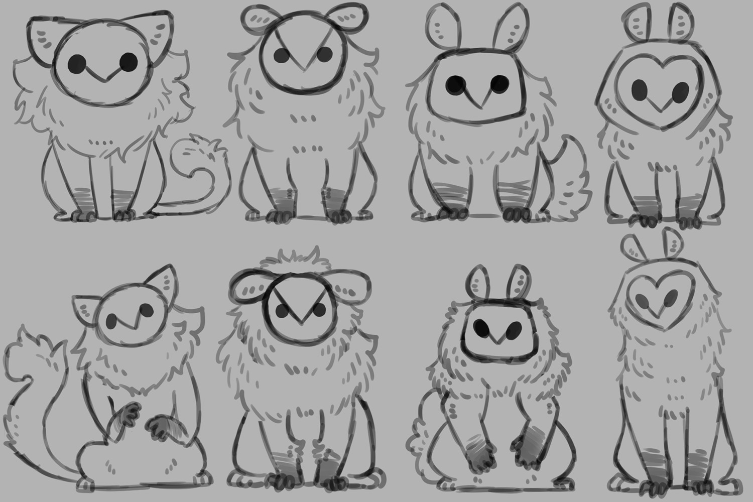 Owl Cats Design Exploration