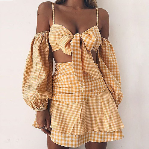 Sexy summer Bow chiffon Top