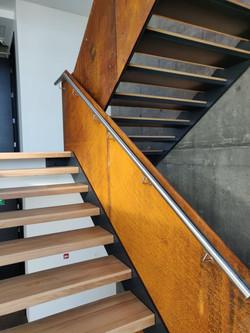Corten railing