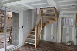 Pose d'escalier + Placoplâtre