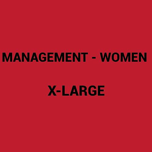 Womens MANAGEMENT Box -XLarge