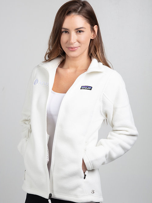 White Patagonia Full Zip Fleece (Women's)