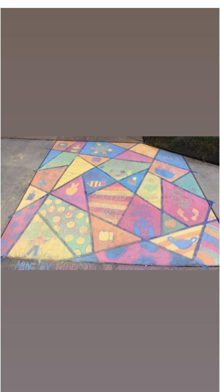 Covid Chalk Art