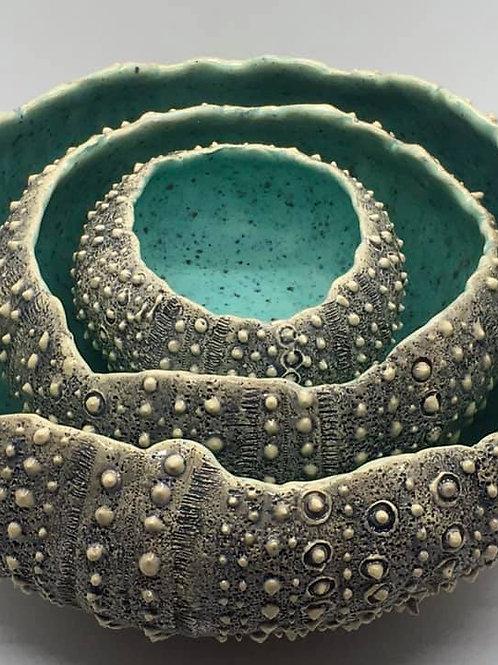 Sea Urchin Bowl SET 3- MADE TO ORDER