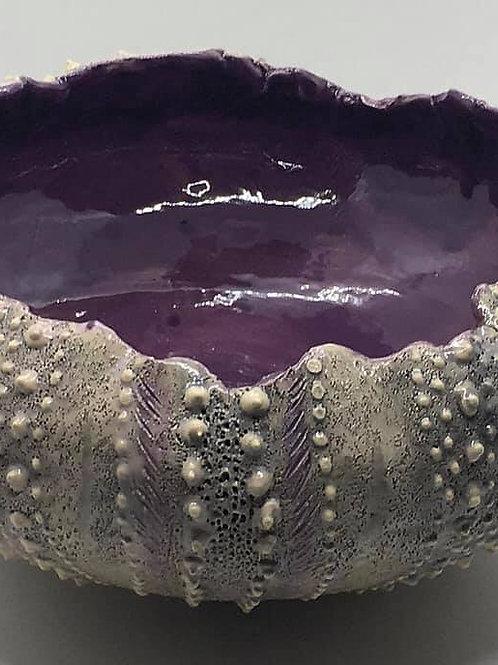 Deep Purple Spine - Sea Urchin Bowl SET 3- MADE TO ORDER