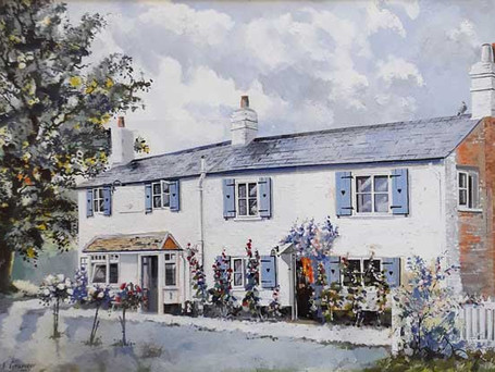 Painting of The White Lion in 1959