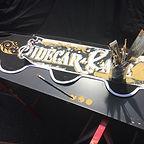 Sidecar Café marquage publicitaire sur parasol