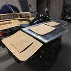 Sidecar Café plateau de bois pour créer le bar à café sur side-car