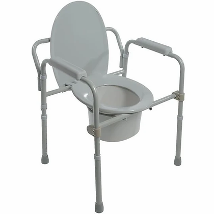 Folding Steel Commode- 5523