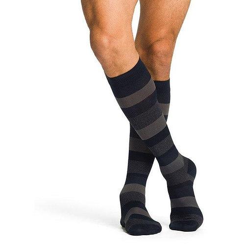 Sigvaris Microfiber Men Compression Socks- Stripes