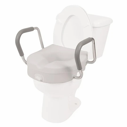 """5"""" Raised Toilet Seat with removable arms-7016"""