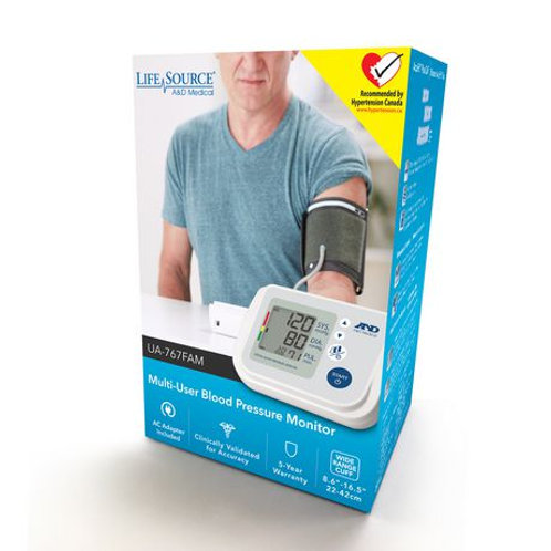 Life Source Multi-User Blood Pressure Monitor
