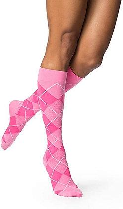 Sigvaris Microfiber Women Compression Socks- Argyle