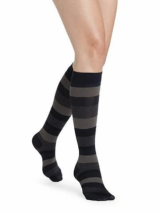 Sigvaris Microfiber Women Compression Socks- Stripes