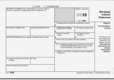 2018 Blank Form 1098 Mortgage Interest.p