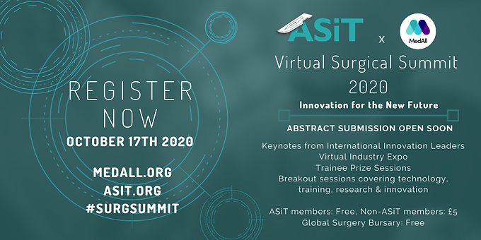 ASiT x MedAll Virtual Surgical Summit 2020
