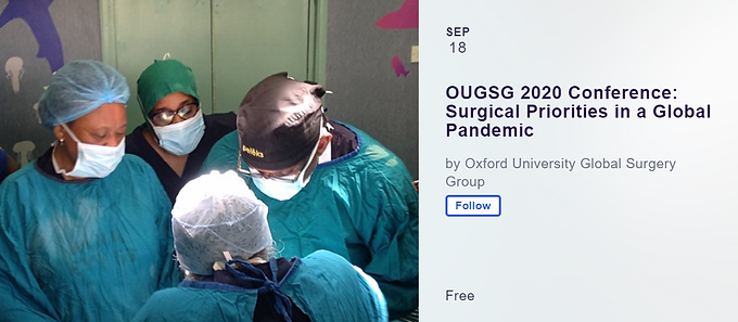 OUGSG 2020 Conference: Surgical Priorities in a Global Pandemic