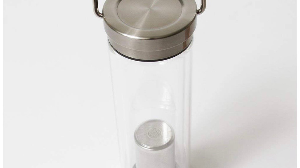 Double Wall Glass Hot/Cold Water Bottle with Infuser
