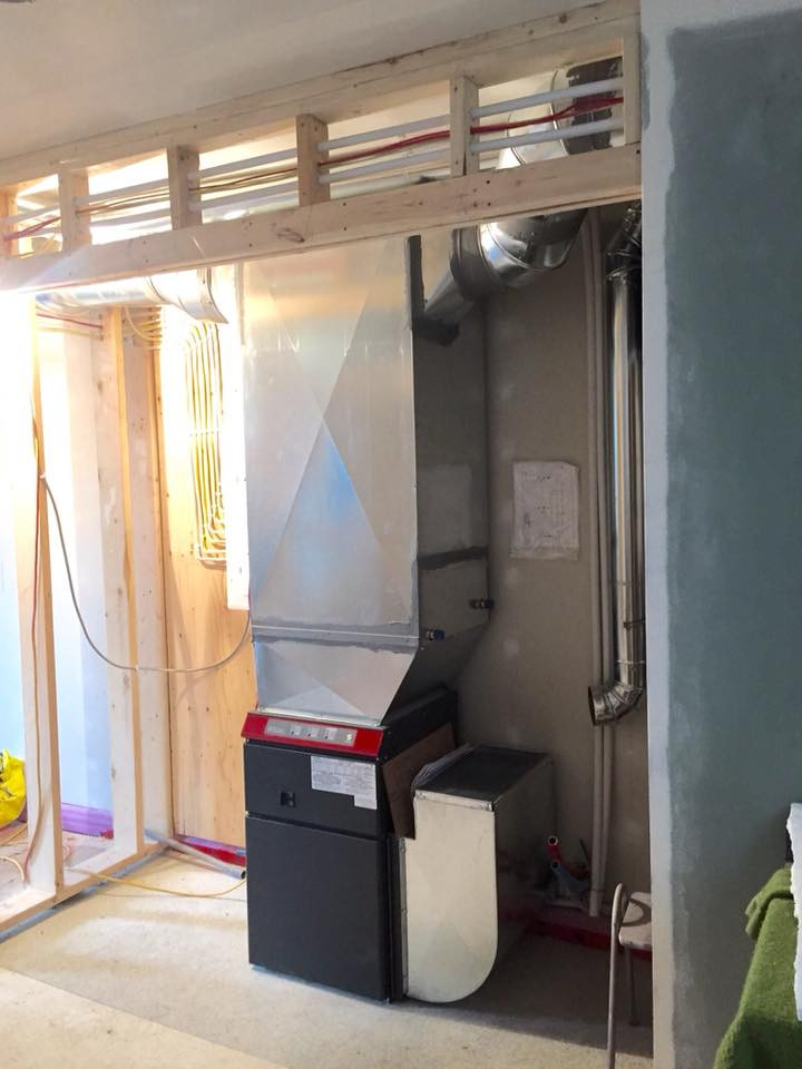 A tucked away hidden Furnace. We love bringing our experience to you, and working with you to install a system that will work, and keep you happy for a very long time