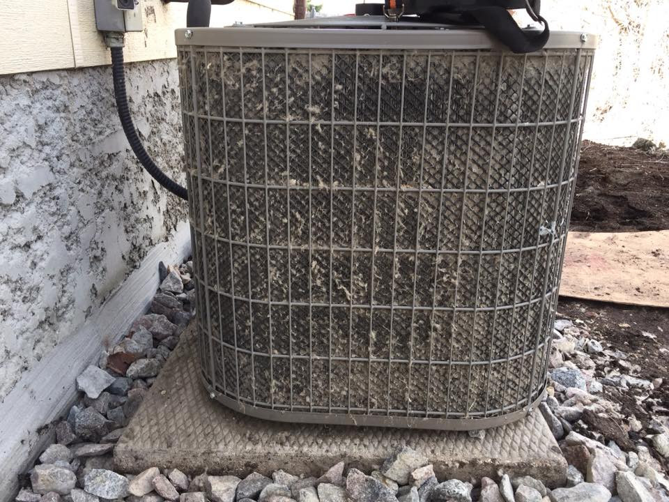 Make sure to clean your outside condenser. A plugged unit will not work well for you and your home.
