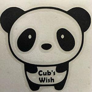 Decal A - Cub in Cub's Wish T-shirt