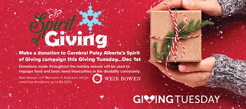 Spirit of Giving - Giving Tuesday Webban