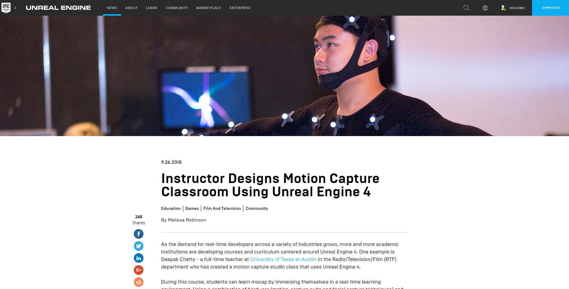 Motion Capture Studio Class   deepakchetty