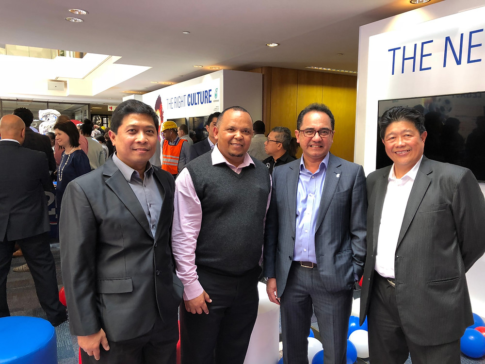 Our Director Mr Swartz with Mr Wan Zulkiflee (Chief Executive Officer of Petroliam ), Mr Yussa Hussan (Engen CEO) & Mr Azman Rahaman ( Head of Procurment, Engen)
