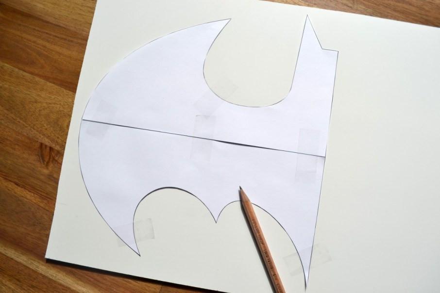 Batman-Lampe Vorlage aufzeichnen