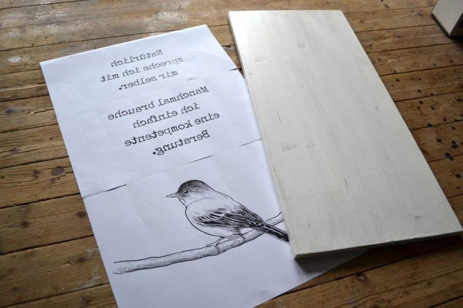 Fotodruck auf Holz Vorbereitung