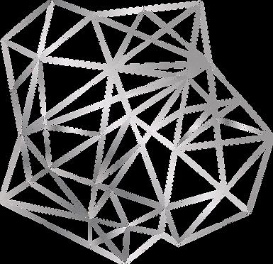 Geometric Pattern Einzelelement Silber h